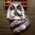 Новый Мальчик ЗИМНЕЙ Одежды ТРИ ПЬЕСЫ жилет куртка и футболки и брюки Мальчик Набор Baby Boy Одежда 6BST021
