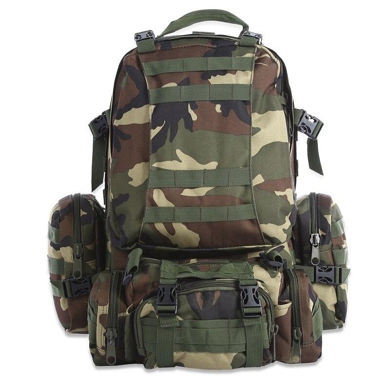Militaire Tactique Sac À Dos 50L Multifonctionnel Sac À Dos Plein Air Molle Sac Camping Escalade Randonnée Sac À Dos Camouflage Sport Sacs