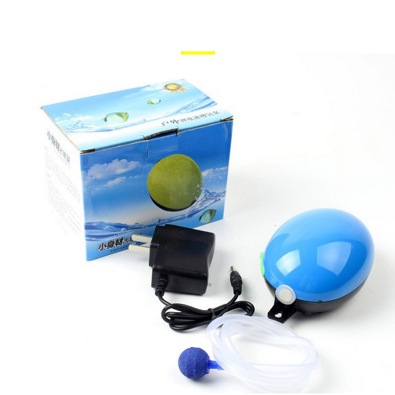 Mini Portable Aquarium Air Pump Fish Tank Increasing Oxygen Pump Ultra-Silent  Fish Supplies Household Fishing Oxygen Pump