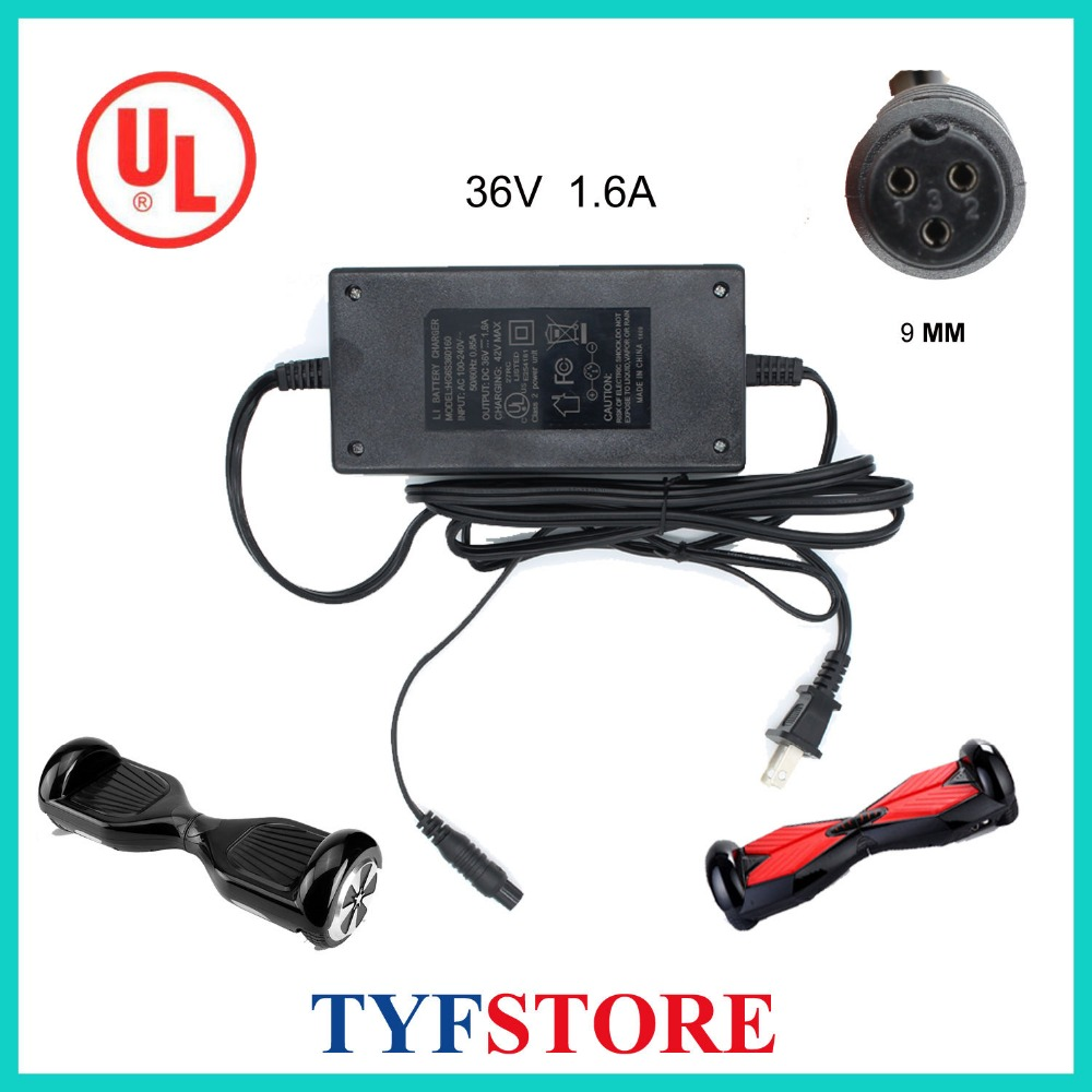 42V 2A Scooter Charger Power Adapter 2 Wheels Self Balancing Hoverboard Unicycle
