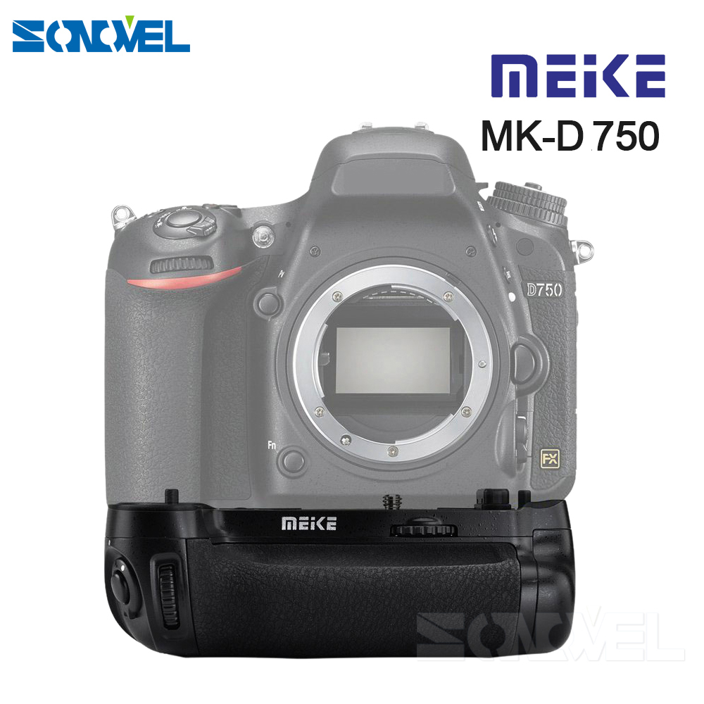 MEIKE MK-D750 Battery Grip Pack Replacement MB-D16 as EN-EL15 Battery for Nikon D750 DSLR Camera meike vertical battery pack grip for nikon d5300 d3300 2 en el14 dual charger