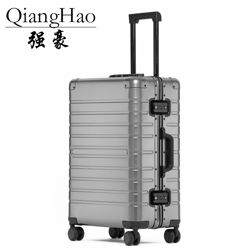 20 24 28 inch 100 Aluminum alloy frame business trip suitcases and travel bags valise cabine