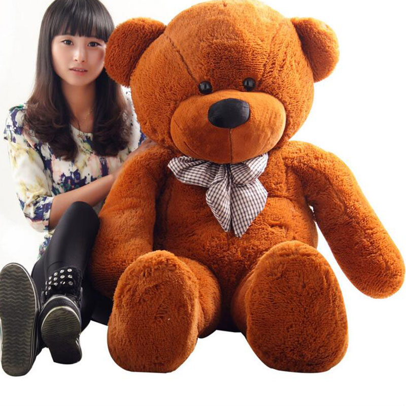 ФОТО High Quality 140CM Tie Bear Toys Large Bear Giant Size Plush Doll Teddy Bear Stuffe Toy Gift Plush Ted Man's Movie Ted Bear