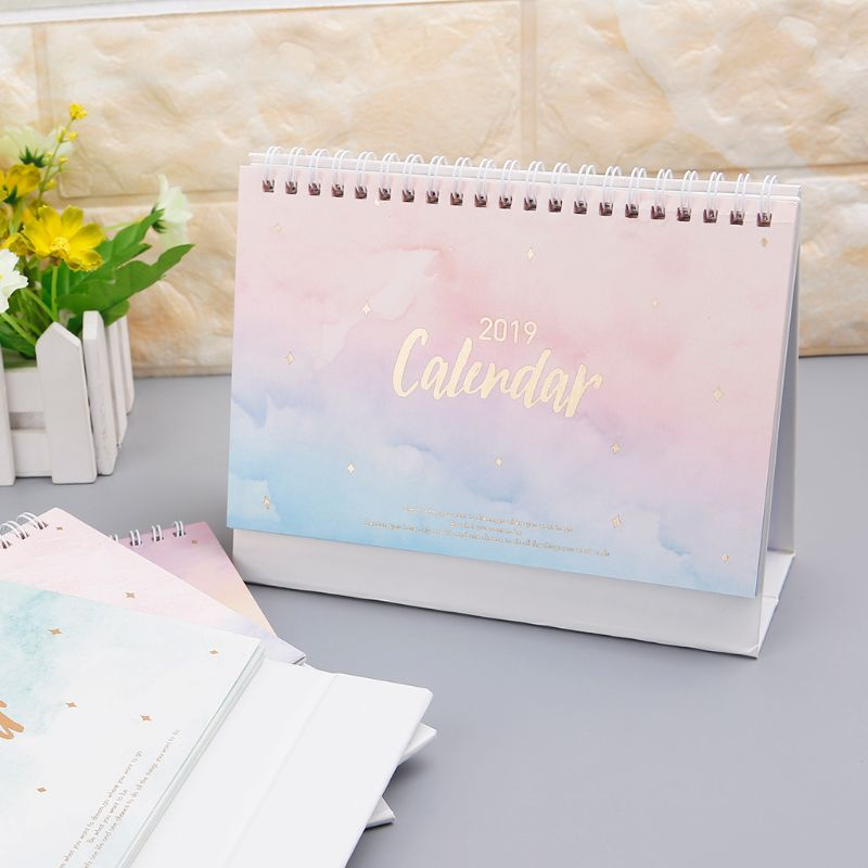 2019 Creative Venice Aegean Sea Church Table Desktop Calendar Agenda Organizer Daily Scheduler Planner 2018.06~2019.12 Calendar Calendars, Planners & Cards