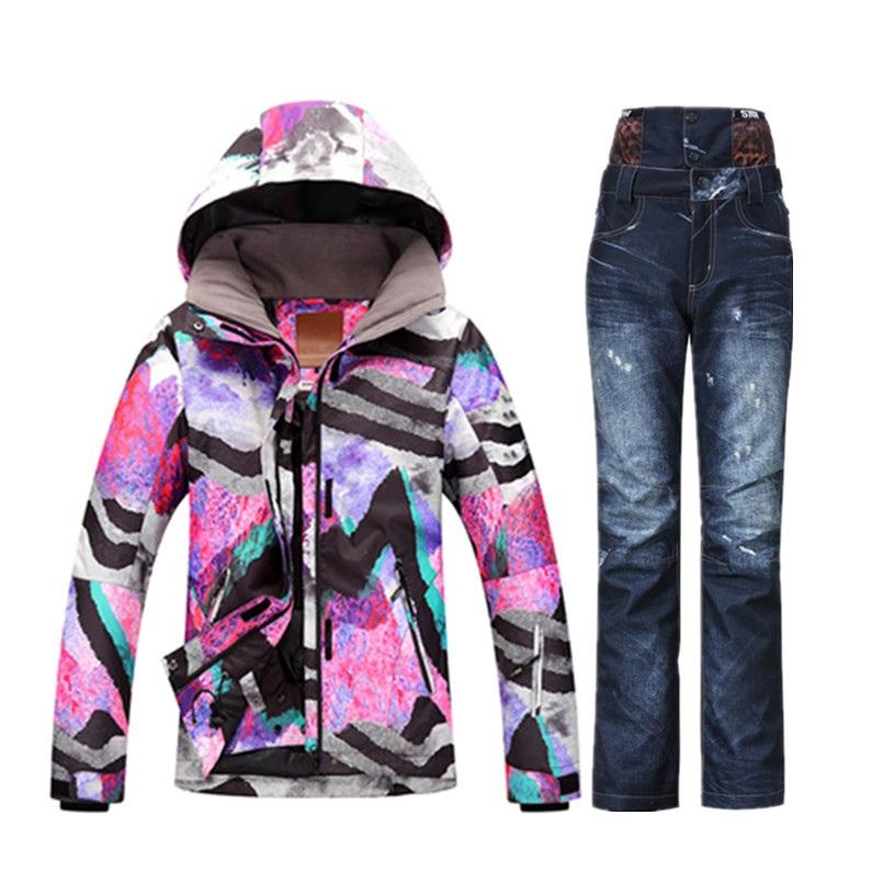 2019 Wholesale New 2017 GSOU Waterproof Winter Ski Suit Female Snow ... 4e2bef475