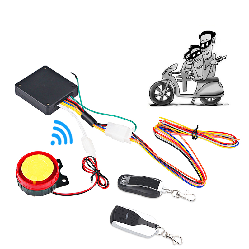 2 Way Motorcycle Alarm System Remote Control Vibration