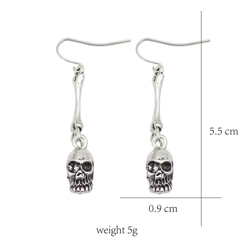 b75596191 ... Pop Punk Retro Texture Skull Skull Earrings Personality Ladies  Exaggerated Nightclub Wind Ear Hook Jewelry Gift