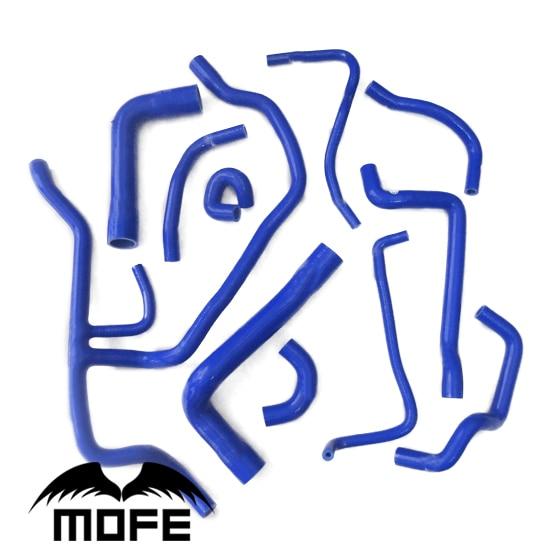 Mofe11PCS Bleu Silicone Tuyau de Radiateur Kit Pour BMW E34 5 Série 1986-1996