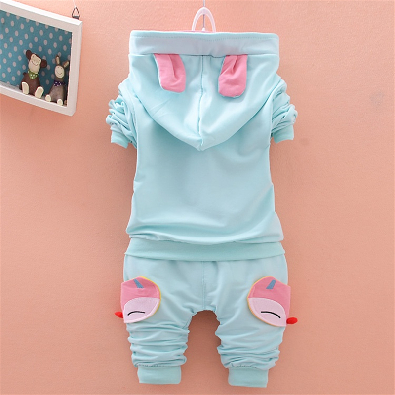 BibiCola kids girl clothes suit 2018 New 2pcs spring autumn children clothing set baby girls sports suit Cartoon casual costume