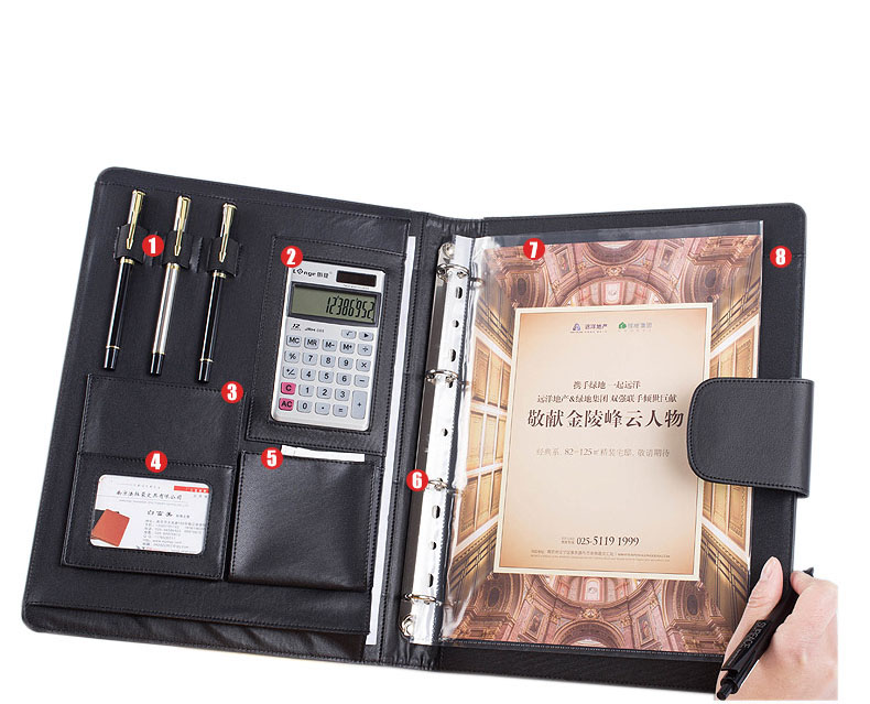 multifunctional file folder a4 , high quality PU Leather 4-rings letter size document folders. for 8.5x11 inch document folder somic g951pink headphone 7 1 virtual gaming headphone female players wired usb headphone with microphone headsets 3d surround