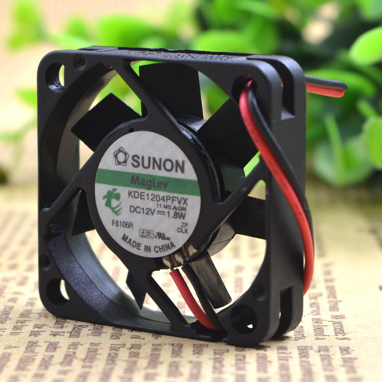 Free Shipping For SUNON KDE1204PFVX 11.MS.AF.GN DC 12V 1.8W 2-wire 2-pin connector 60mm 40X40X10mm Server Cooling Square fan free shipping emacro mechatronics f1238h12b1 dc 12v 0 440a 3 wire 3 pin connector 110mm 120x120x38mm server cooling square fan