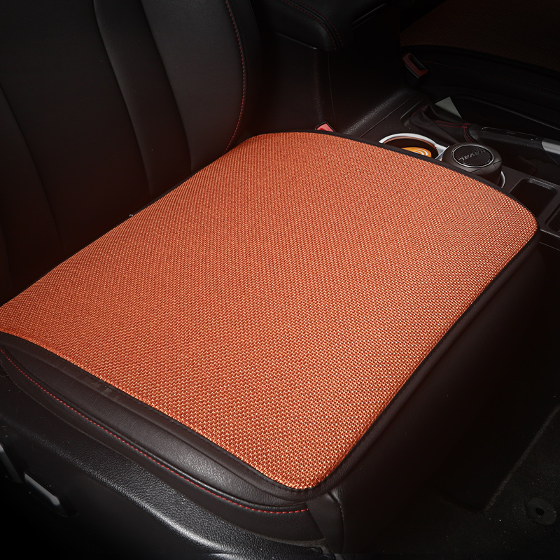 KKYSYELVA 1Leather Universal Car Seat Cushion Cover Seat mat for Car, Office Chair & Home Auto Seat Covers Interior Accessories