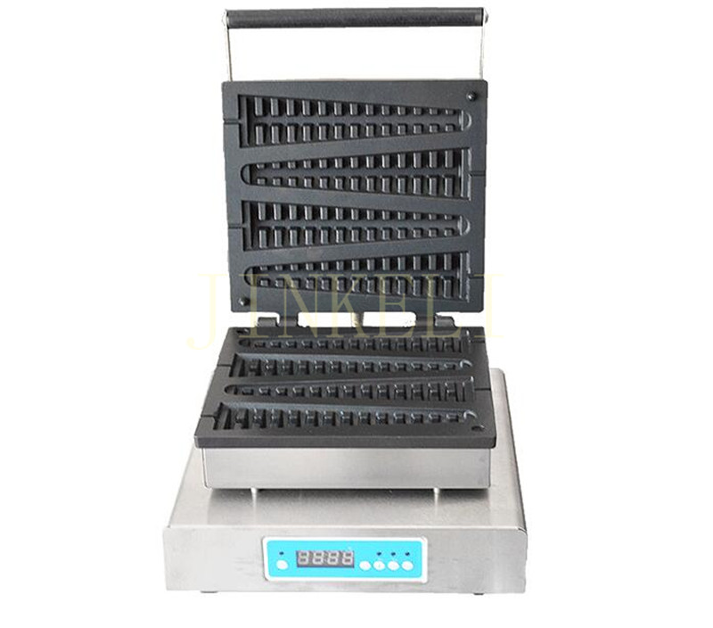 free ship Digital display Lolly waffle maker custom plate / cast iron pine lolly waffle machine / fish bone shape waffle maker