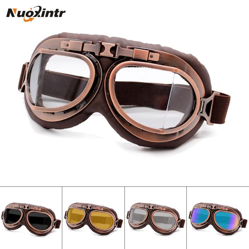 Nuoxintr retor óculos de proteção da motocicleta ao ar livre da motocicleta esporte bicicleta sujeira para harley moto proteção uv