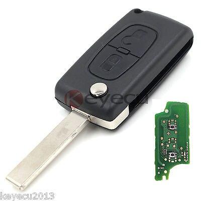 Prix pour Nouvelle Clé De Voiture À Distance Fob 2B 433 MHz ID46 pour Peugeot 307 207 308 407 0536 Modèle