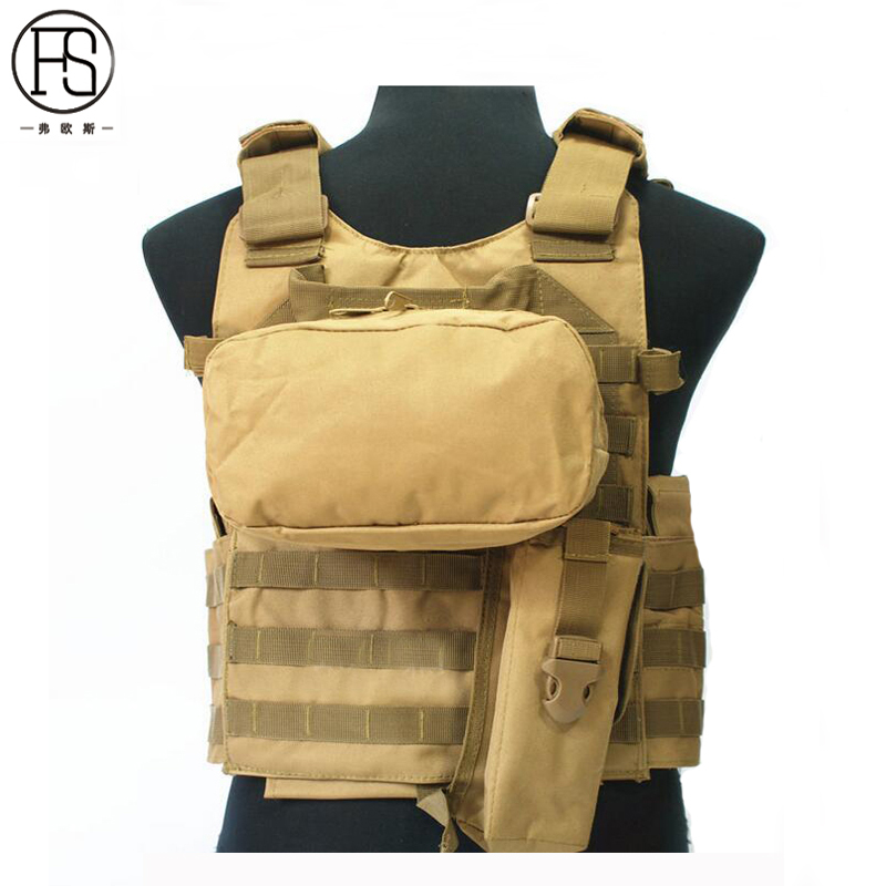 Tactical Vest 3 Colors Mens Military Hunting Vest Field Battle Airsoft Molle Waistcoat Combat Assault Plate Carrier Hunting Vest airsoft adults cs field game skeleton warrior skull paintball mask
