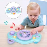 Детское моделирование рулевого колеса многофункциональный электрический свет музыка Вождение руль детские развивающие игры игрушки