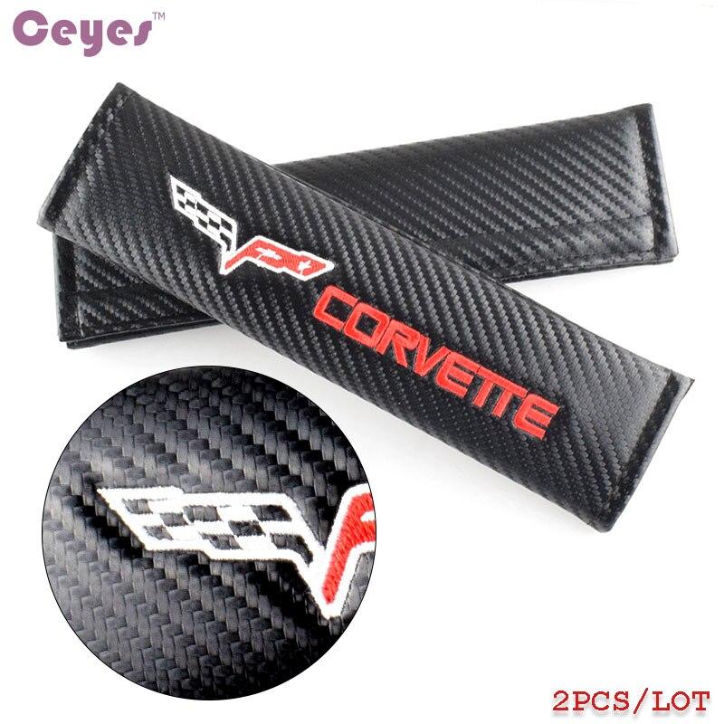 Auto Car-Styling Car Emblems Stickers Shoulder Pads Badge Case For Corvette C4 C5 C6 C7 Guitar Accessories Carbon Car Styling