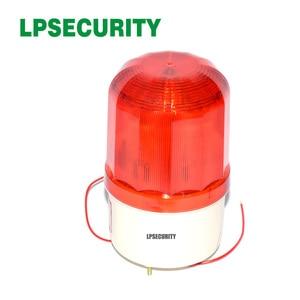 LPSECURITY waterdichte outdoor LED lamp baken rood alarm knipperende 90dB sirene strobe voor gsm alarmsysteem(China)