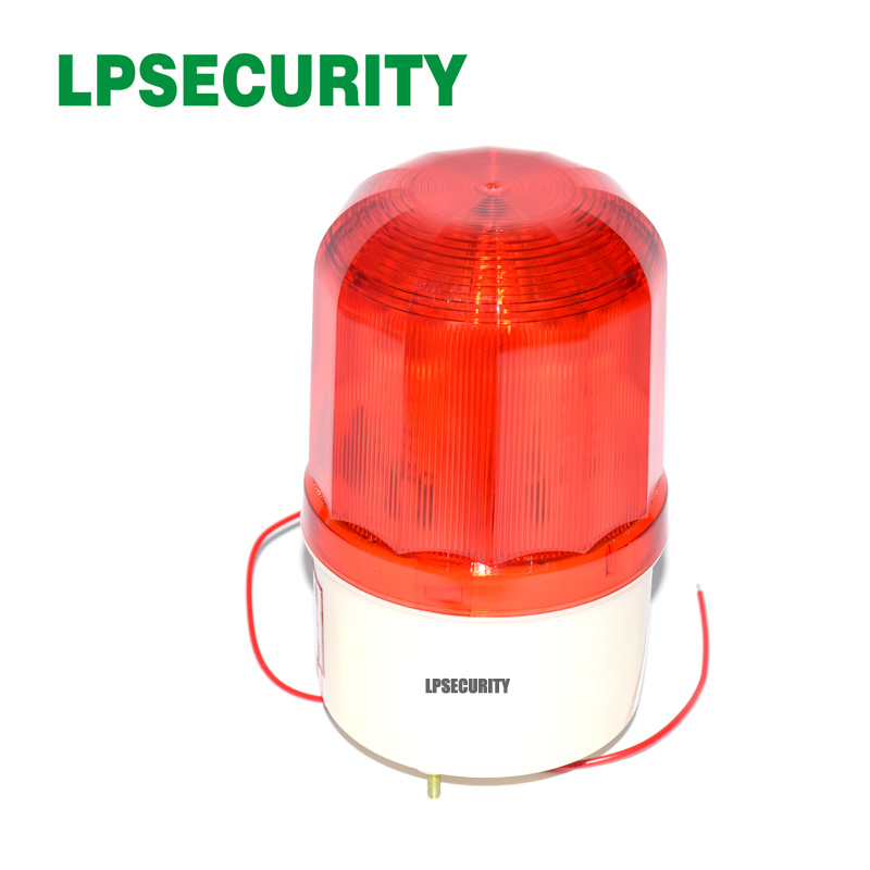 LPSECURITY Waterproof Outdoor LED Lamp Beacon Red Alarm Flashing 90dB Siren Strobe For Gsm Home Alarm System