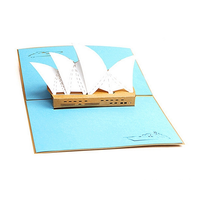 3d greeting card pop up paper cut postcard birthday valentines party 3d greeting card pop up paper cut postcard birthday valentines party present sydney opera house cards filmwisefo