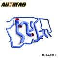 Autofab-9pcs logotipo Original 100% Silicone Silicone refrigeração Kit para Saab 9 5 2003 azul AF-SAR001