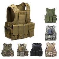 Outdoor Tactical Vest Amphibious Battle Military Molle Waistcoat Combat Assault Plate Carrier Vest Hunting Protection Vest