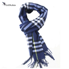 FLYMALL 2017 Autumn Winter Men's Tartan Scarves Male Scottish Plaid Shawls Warm British Style Tassel Scarf 21 Colors for Choose