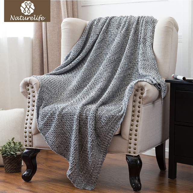 Throw Blankets For Couches Extraordinary Naturelife Knitted Throw Blanket For SofaCouch Lightweight Handmade
