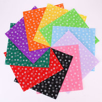 30X30CM Printed Felt Snow Pattern Fabric Non Woven Handmade Home Decor Sewing Dolls Crafts Material Mix