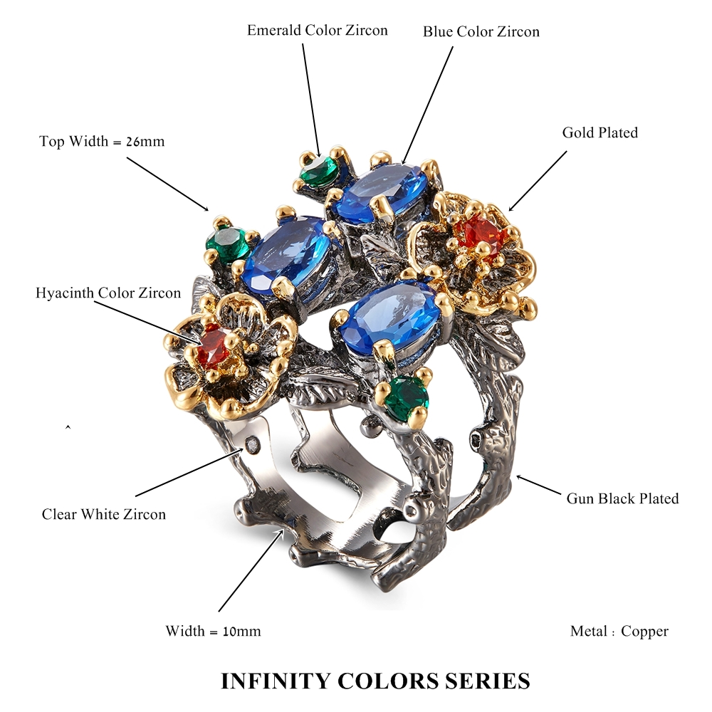 Image 5 - DreamCarnival 1989 Gorgeous Women Ring Infinity Color Stone Vintage Jewelry Chic Fashion Anniversary Wife Gift Must Have WA11672Rings   -