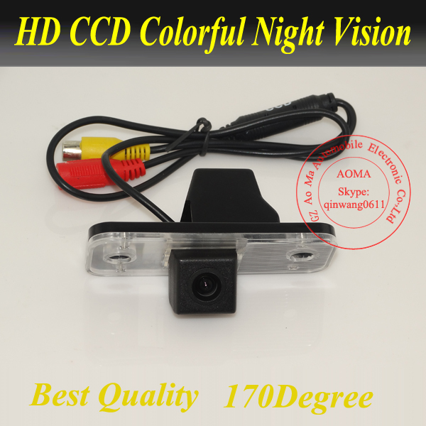 Free Shipping! HD Rear View Camera For Hyundai Santa Fe 2006-11 CCD Car Reverse Camera Auto License Plate Light Camera