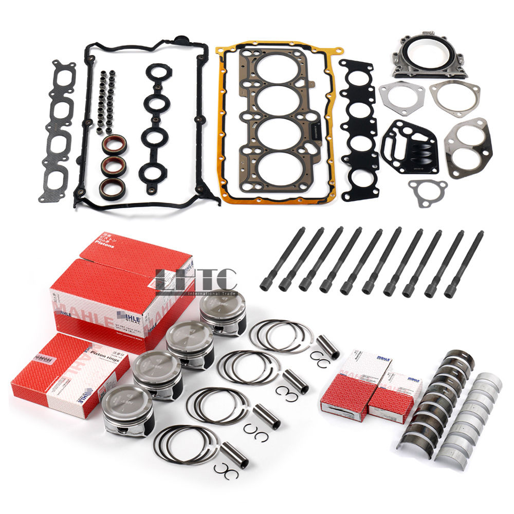 Overhaul Rebuilt Pistons Rings Timing Chain Tensioner Crankshaft Connecting Rod Bearing Kit For VW AUDI 1.8L Turbo DOHC 20V AWM genuine ud engine parts fd46 fd46t main crankshaft bearing con rod bearing connecting rod bushing