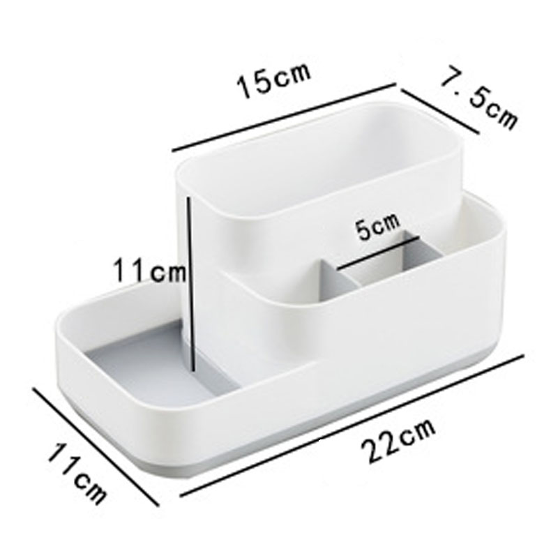 Image 5 - 1 Pcs Creative Makeup Organizer Plastic Detachable Grid Finishing Storage Box Cosmetics Desktop Rack Organizador 2019 Hot-in Storage Boxes & Bins from Home & Garden
