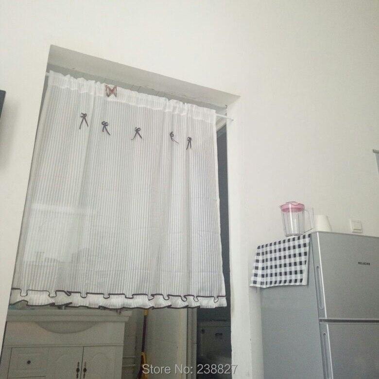 XinHuaEase Strisce Verticali Tenda Voile Trasparente Da Cucina ...