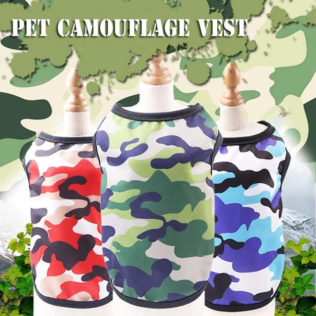 Camouflage Dog Shirt Cheap Dog Clothes For Small Dogs Summer Chihuahua Tshirt Cartoon Puppy Vest Yorkshire Terrier Pet Clothes