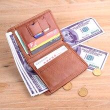 NewBring Vollrindleder Geldbörse Herren Fashion Münze Brieftasche Hohe Qualität Vintage Brieftasche Marke Kreditkarte Geldbörse männlichen