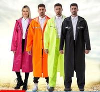2019 New Fashion EVA Raincoat Long section Clothes Waterproof Cloak Impermeable Men's Raincoat 269