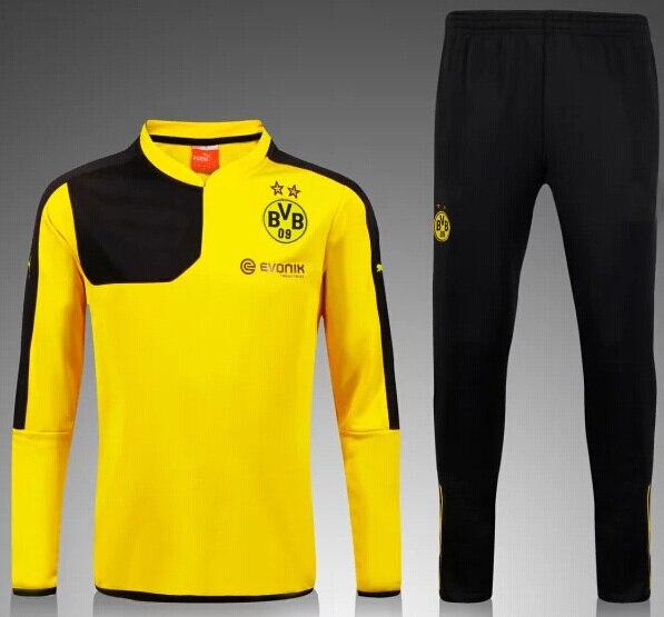 15 16 Borussia Dortmund kits soccer football jersey kits. best quality BVB  soccer uniforms Jerseys embroidery logo-in Soccer Jerseys from Sports ... b1d736165