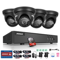 ANNKE 4CH HD TVI 1080P Lite CCTV Video Security System DVR With 1TB Hard Drive And