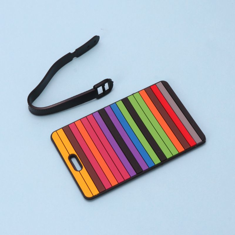 Travel Accessories Suitcase Luggage Tags ID Address Holder Luggage Label Silicone Identifier Bag Accessories