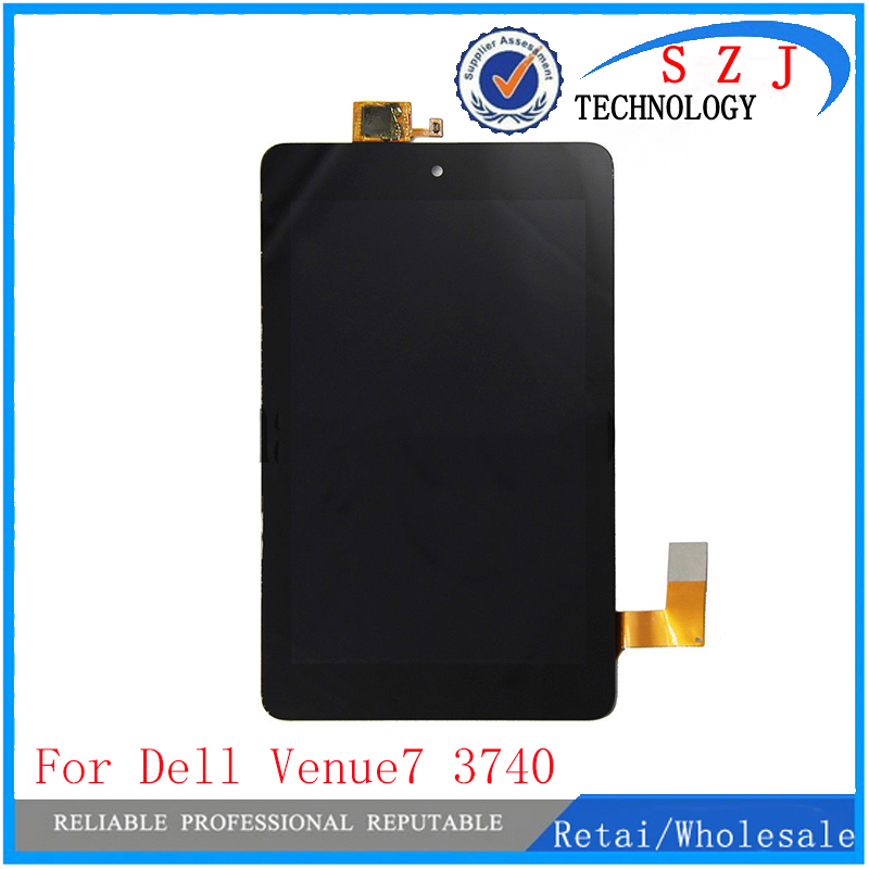 New 7'' inch case For Dell Venue 7 3740 Full LCD Display Monitor + Touch Panel Screen Digitizer Glass Assembly Replacement Parts for samsung galaxy tab s2 9 7 inch t810 t815 new full lcd display panel screen digitizer touch screen glass assembly