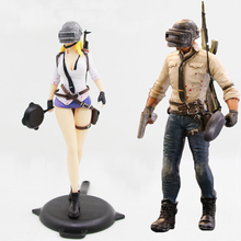 Game Playerunknowns Battlegrounds  PUBG Character Male and Female Action Figure Collection Toys for Gift