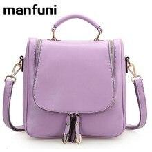 Manfuni рюкзак Сумки для женщин Повседневная ярких цветов кожи Модная многофункциональный сумки на плечо для девочек-подростков 0424