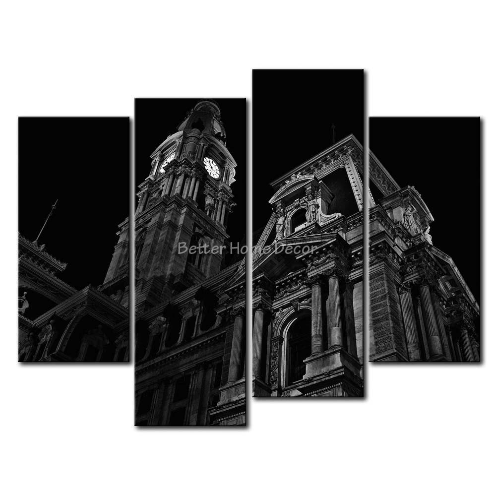 Aliexpress Com Buy 3 Pieces Wall Art New York City: 3 Piece Black & White Wall Art Painting Philadelphia City