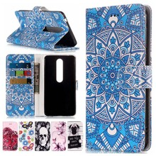Fashion Wallet Stand Case For Nokia Lumia 1 6 2018 7 Plus 7Plus 630 635 730 735 Leather Flip Cover Case Flower Phone Coque P01Z nillkin protective pu leather pc case cover for nokia lumia 730 735 black