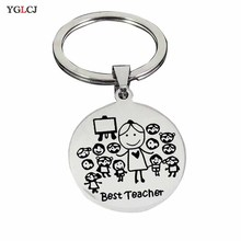 YGLCJ Stainless Steel Keychain Teacher Thanksgiving Gift Teacher'S Day Teacher Stainless Steel Jewelry Student Send Teacher Gift exploring teacher student relationships with hermeneutic phenomenology