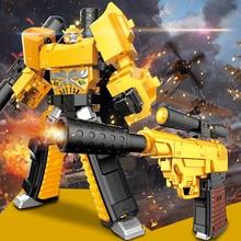 Anime Transformation Toys Robot gun 15cm Deformation Robot Toy pistol ABS Alloy action figure Anime Classic Boy Gift Deform gun
