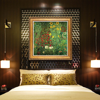 YongHe Home Decorative Oil Painting Vienna Secession Gustav Klimt sunflowers Customizable Spray Painting Frameless ink Poster