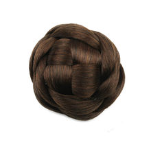 Gres Heat Resistant Fiber Black/Light Brown/Blonde Synthetic Hair Knot Women Clip-in Chignons(China)